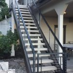 Concrete Stairs with Cable Handrail.